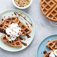 Gofres o waffles caseros